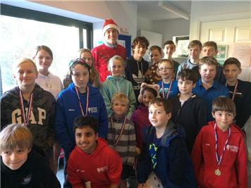 Junior prize-winners - Junior Christmas Tournament & Annual Prize-giving